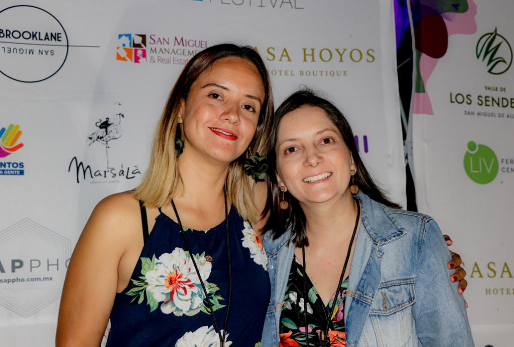 Clarena Orozco and her partner - ELLA Festival Mexico