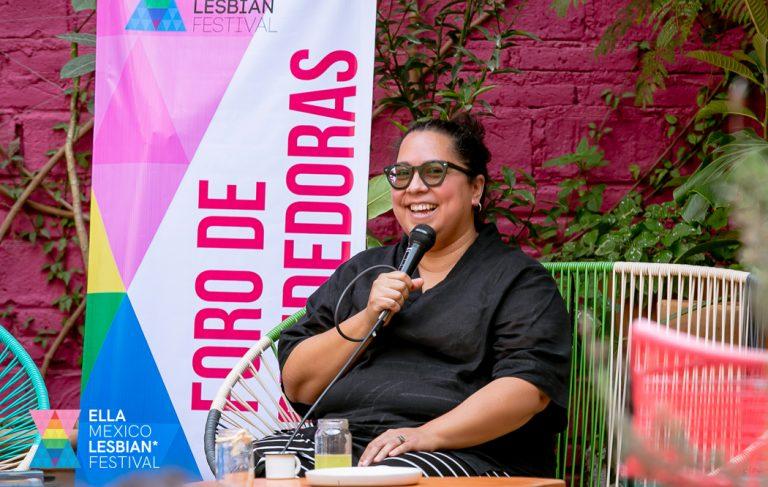 Gloria Rubio at the entrepreneurs forum - ELLA Mexico