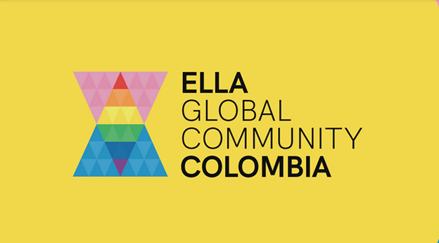 ELLA Colombia logo with a yellow background