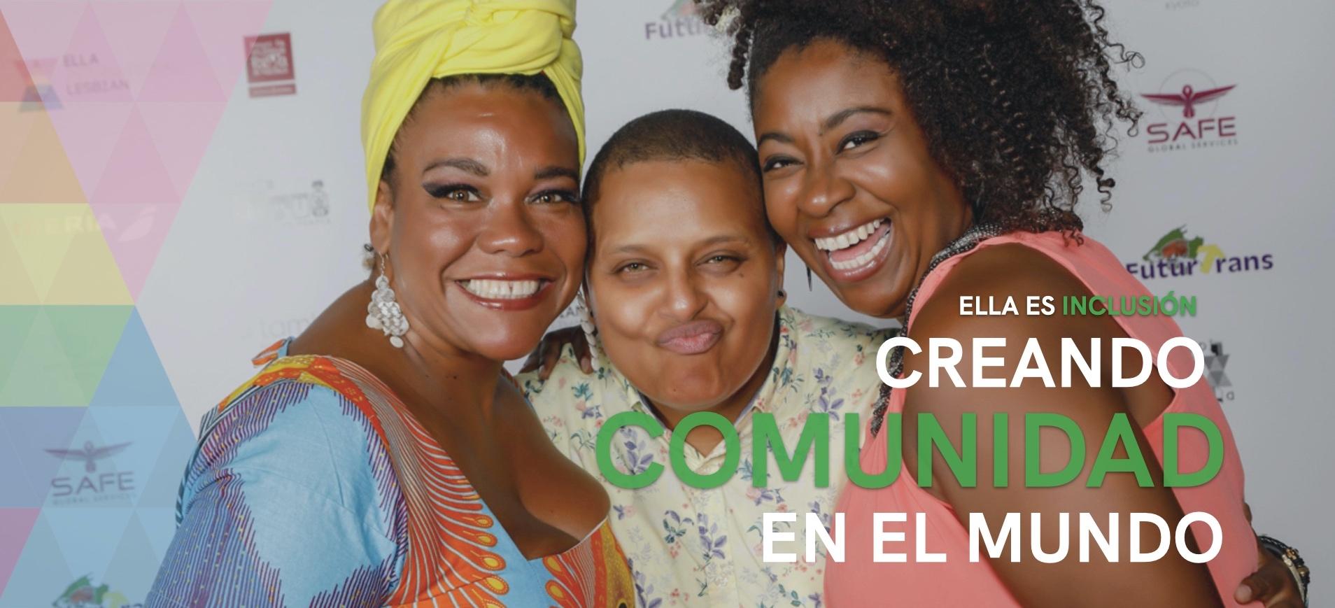 Mujeres negras posando en ELLA Festival