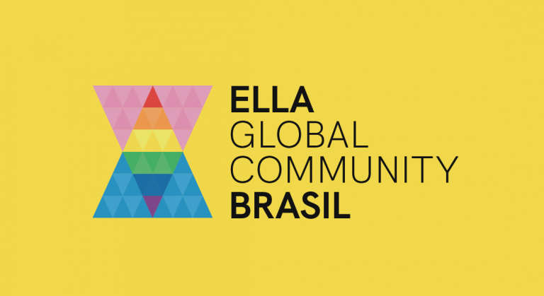 Logo amarillo ella global community brasil