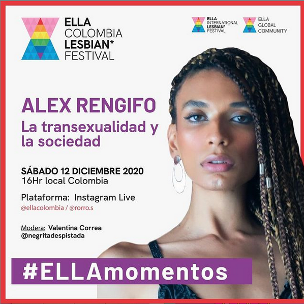 Cartel charla ella talks colombia con la ponente Alex Rengifo